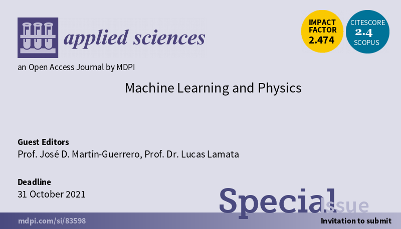 """IDAL organizes a special issue on """"Machine Learning and Physics"""""""